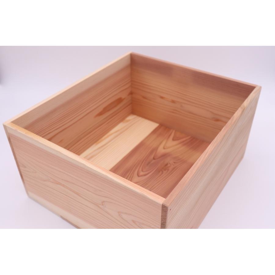 【多機能BOX 贈答用 ギフト用】 内寸 縦310mm × 幅350mm × 高さ180mm 材料杉 hakoyu 02