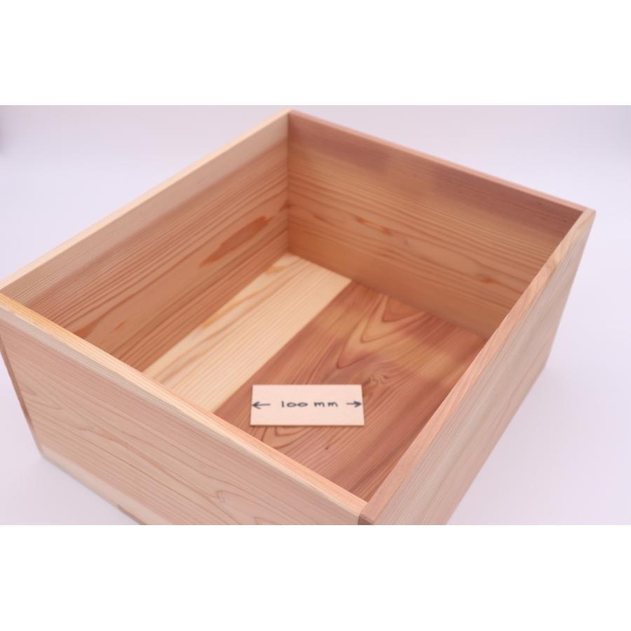 【多機能BOX 贈答用 ギフト用】 内寸 縦310mm × 幅350mm × 高さ180mm 材料杉 hakoyu 05