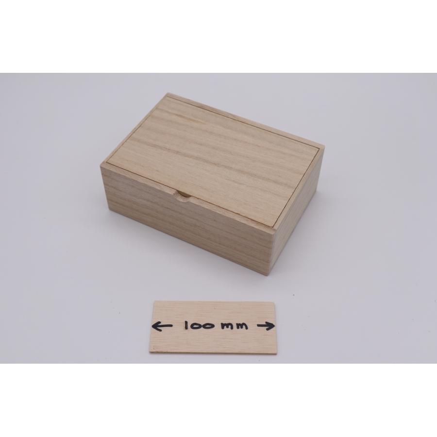 【ハガキサイズ】 内寸 縦155mm × 幅105mm × 高さ50mm  桐箱|hakoyu|05