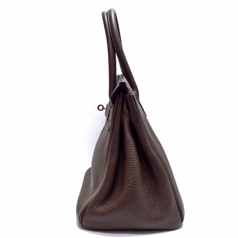 HERMES【エルメス】バーキン30 トゴ ショコラ ハンドバッグ □O レディース【中古】|hakuraku78|05