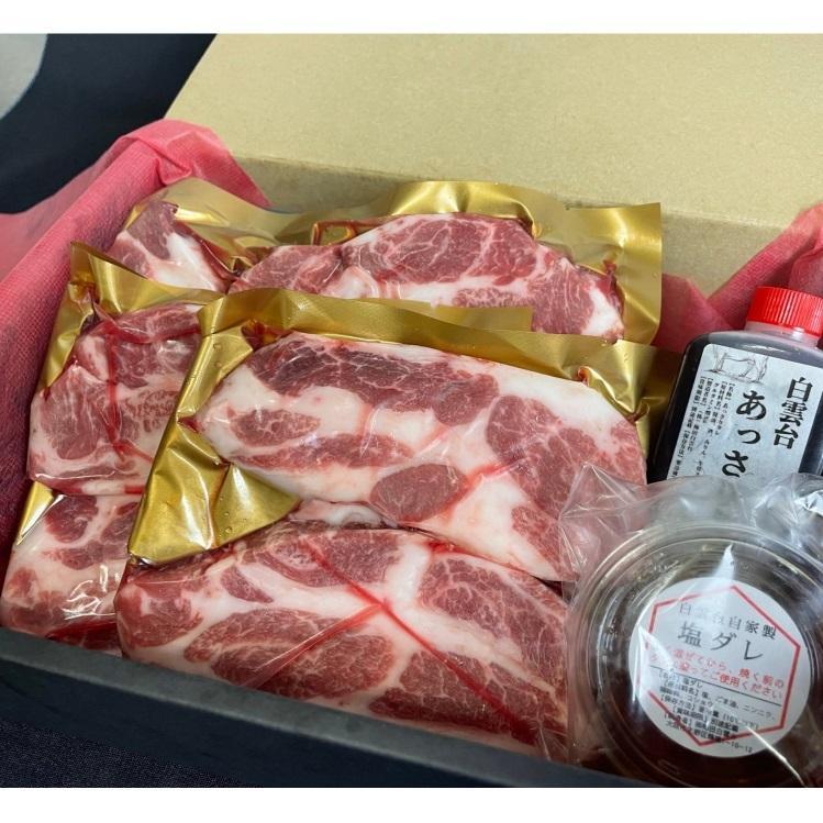 お歳暮 焼肉 ギフト 焼肉セット 豚肉 肉( 最高峰の ベジョータ イベリコ豚 ステーキ セット 600g)冬ギフト プレゼント お取り寄せ グルメ hakuundai 03