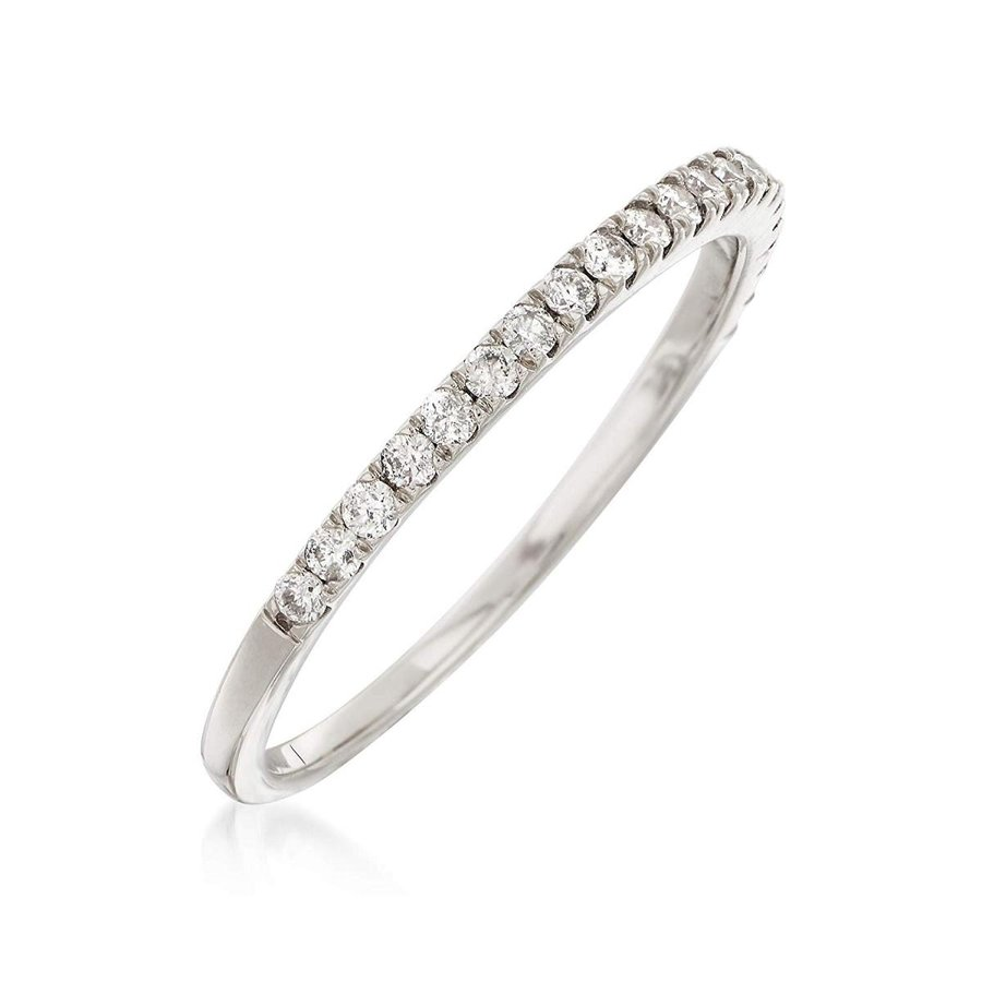 最愛 Ross-Simons 14kt 0.25 ct. t.w. ct. Diamond Stackable in Ring in 14kt White Gold, 朝倉村:5dd776de --- levelprosales.com