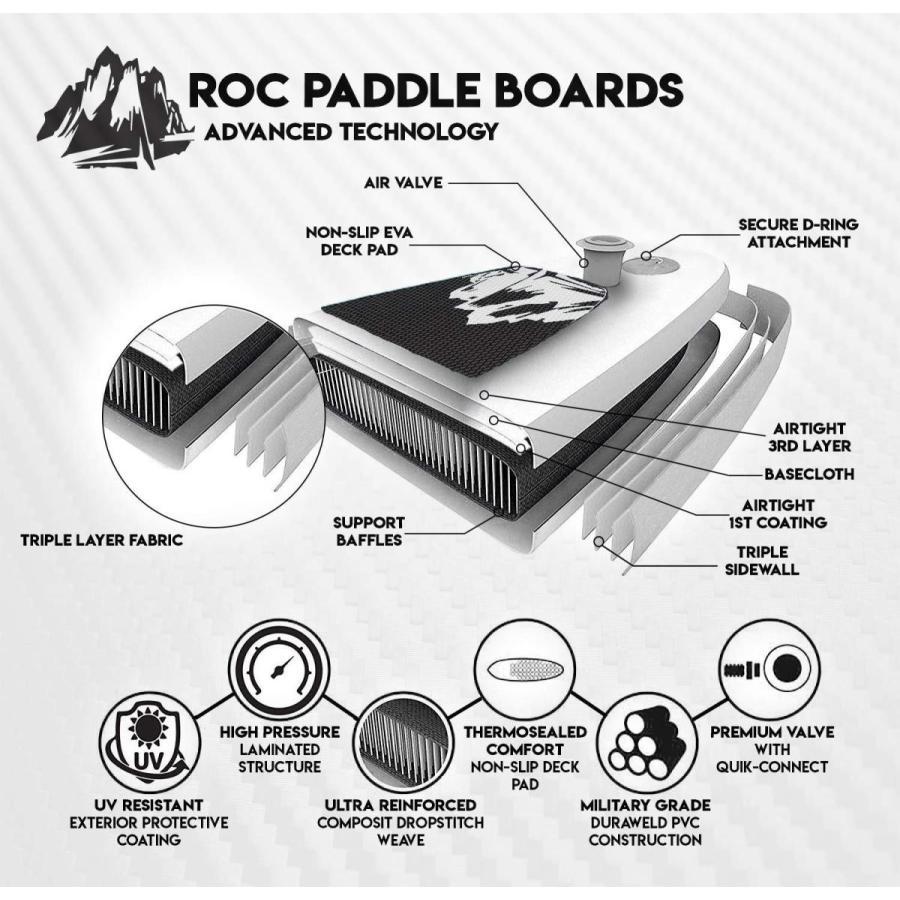 素晴らしい価格 Roc Inflatable Stand Up Paddle Accessories Inflatable Boards & W Free Premium SUP Accessories &, 田んぼや:539254ee --- airmodconsu.dominiotemporario.com
