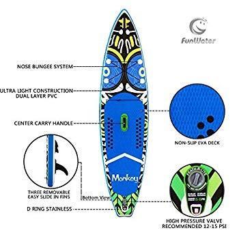 【中古】 FeatherLite 11' Inflatable SUP Set | Inflatable Stand Up Paddle Board, 金光町 bf153801