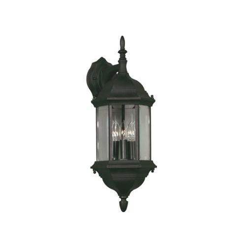 Kenroy Home 16267BL Custom Outdoor Lantern, 黒(Kenroy 黒(Kenroy Home 16267BLカスタムアウトドアランタン、ブラック)