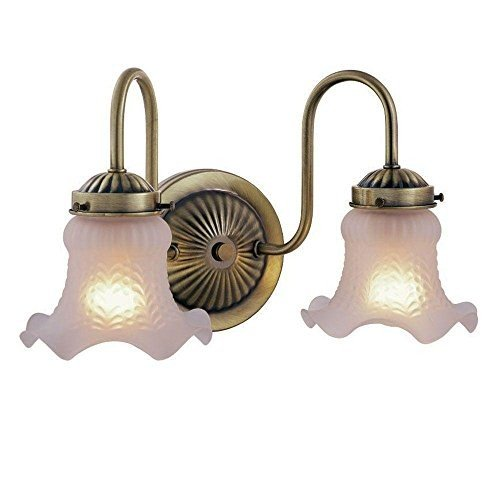 Hampton Bay Antique Brass 2-Light 2-Light Vanity(ハンプトンベイアンティークブラス2ライトバニティ)