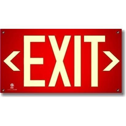 (4)取り付け穴付きの赤いワイヤレス出口標識 (4)取り付け穴付きの赤いワイヤレス出口標識