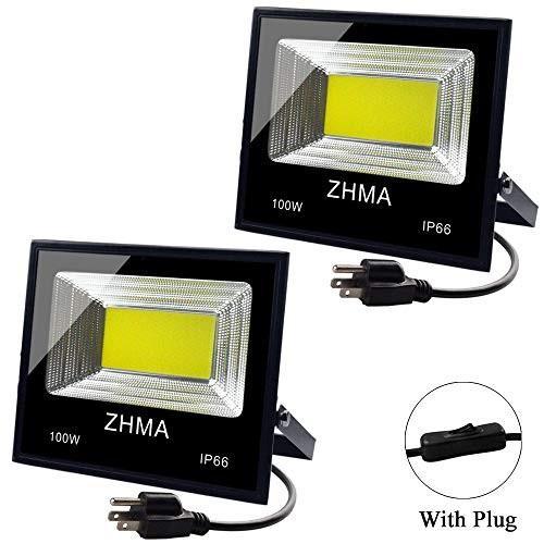 プラグ、9000lm極度の明るいと屋外ZHMA 2のパック100W LEDの洪水ライト