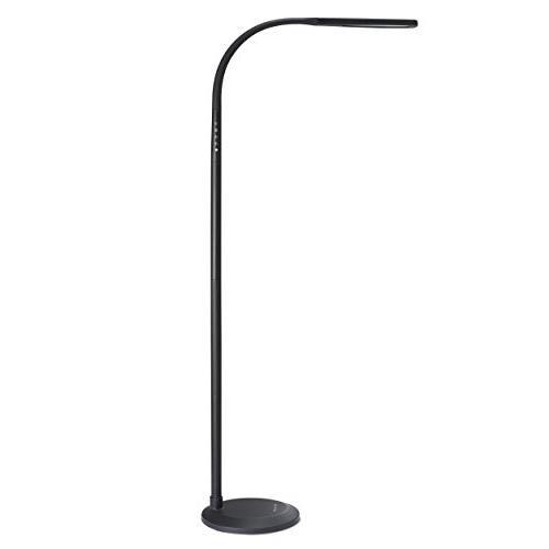 読書のためのPHIVE LEDの床ランプ、調光対応のグースネックの立つランプ(4