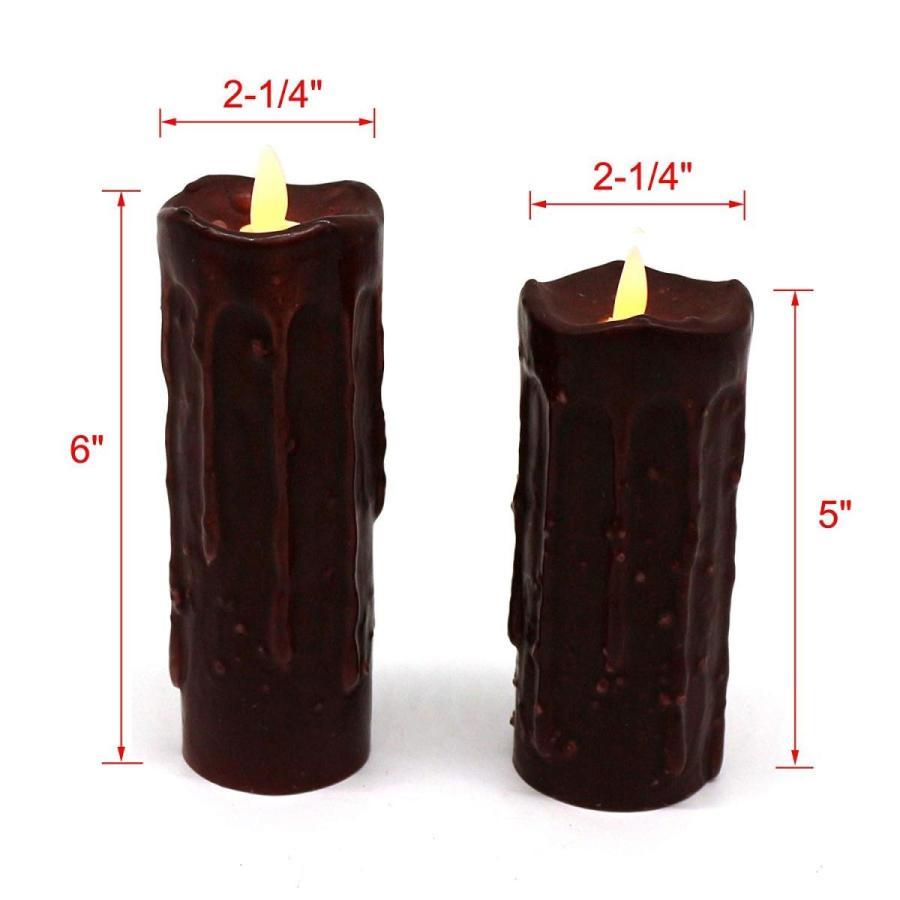 CVHOMEDECO本物のワックス手浸した電池式LEDピラーキャンドルw CVHOMEDECO本物のワックス手浸した電池式LEDピラーキャンドルw