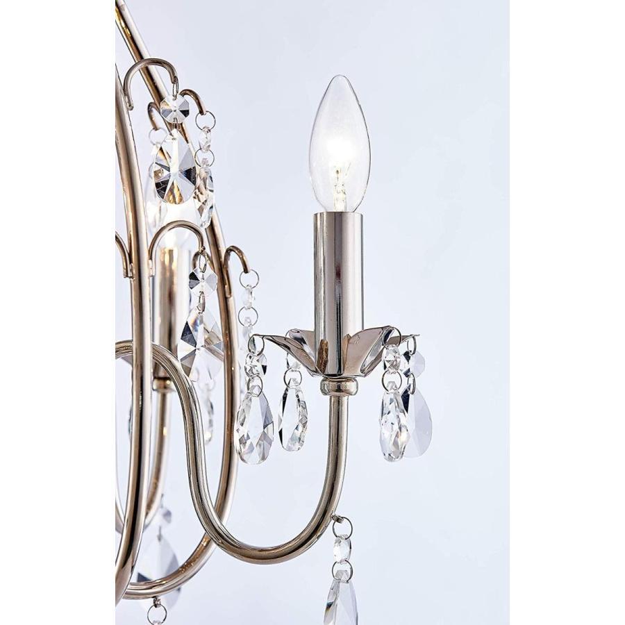古典的なElegentクリスタルキャンドル燭台シャンデリア4ライトニッケル李