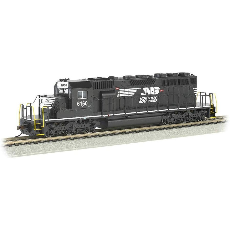 Prototypical Black - HO Scale Bachmann Trains EMD SD40-2 Dcc Ready Diesel Locomotive Norfolk Southern #6160 Thoroughbred