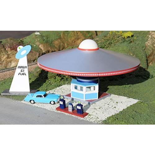 Bachmann Industries Roadside U.S.A Building HO Scale Airplane Gas Station
