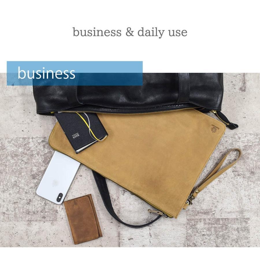 PCケース レザー 本革 13インチ クラッチバッグ A4ファイル Mac Book 牛革 スリム 薄い ビジネス ブランド|hallelujah0325|04