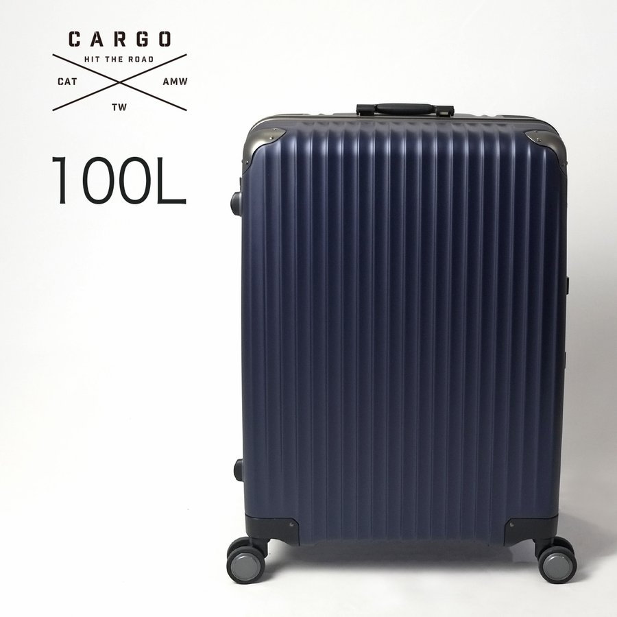 スーツケース トリオ CARGO 大型 ホームステイ 卒業旅行 ハードタイプ Lサイズ 100L 1週間〜 カーゴ TW-72 メーカー直送