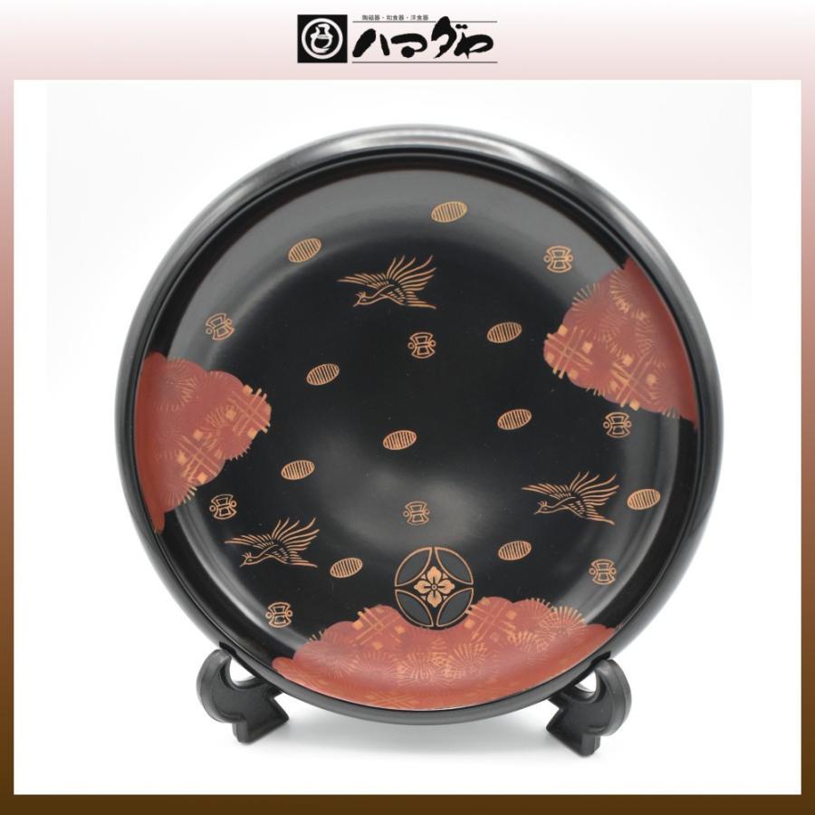 会津塗 錦絵木粉塗黒鉢8.0 現品限り item no.1f611|hamadaya-shokki