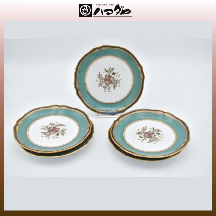 ノリタケ ボーンチャイナ ハナリンス パン皿セット 5枚セット 14cm item no.2f422 hamadaya-shokki