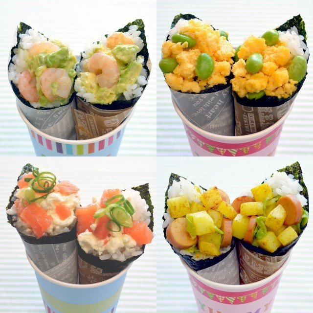 海苔 手巻き寿司 国産 酢付手巻のり 4切20枚(10個セット) hamaotome 08