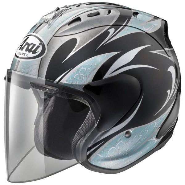 SZ-RAM4 KAREN(ブラック/ブルー) 59〜60cm ジェットヘルメット ARAI(アライ)