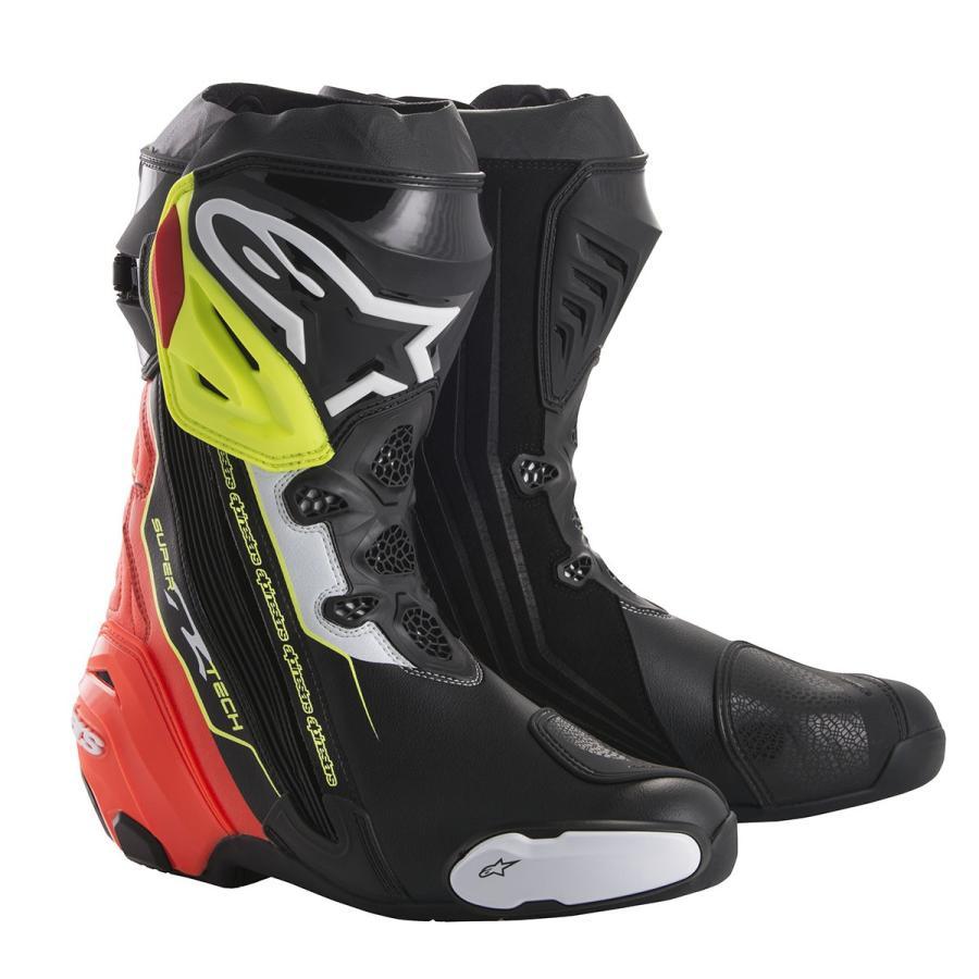 スーパーテックR ブーツ ブラック/レッド/イエローFLUO 41/26.0cm アルパインスターズ(alpinestars) hamashoparts