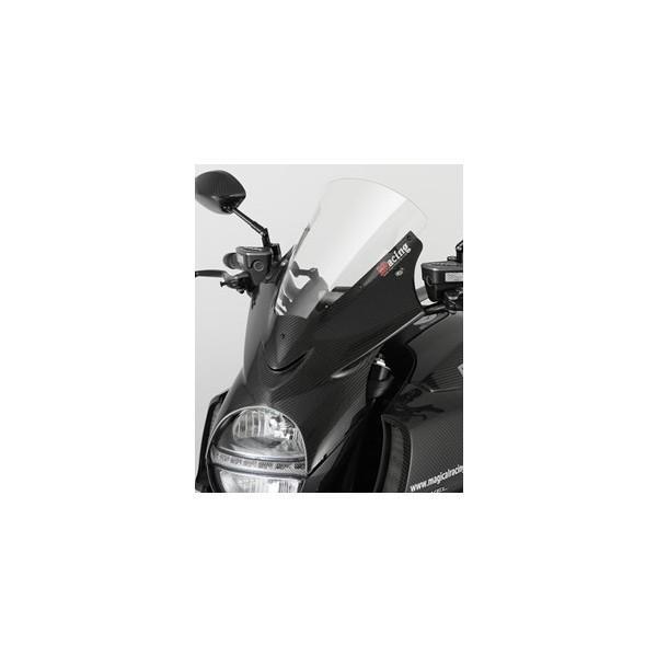 DUCATI Diavel(11·13年) バイザースクリーン(50mmロングタイプ )平織りカーボン製/スーパーコート MAGICAL RACING(マジカルレーシング)