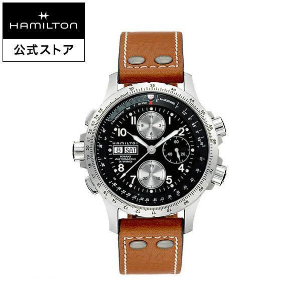 69584c52c4 ... いただけます   ファッション   アクセサリー   メンズ腕時計  . Hamilton ハミルトン 公式 腕時計 Khaki X-Wind  カーキ アビエーション X-ウィンド メンズ レザー ...