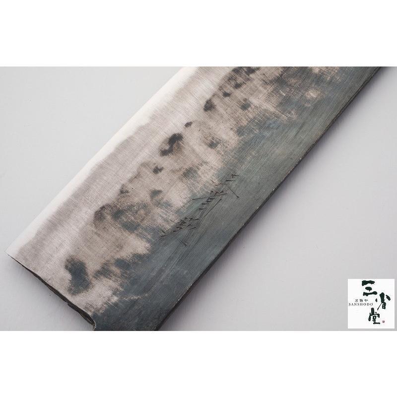 菜切り 三省堂作 黒打 白2号 180mm hamono-sanshodo 03