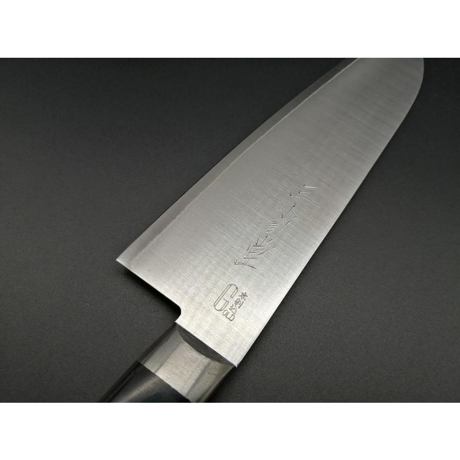 三徳 三省堂作 モリブデン 口金付 黒合板 165mm hamono-sanshodo 02