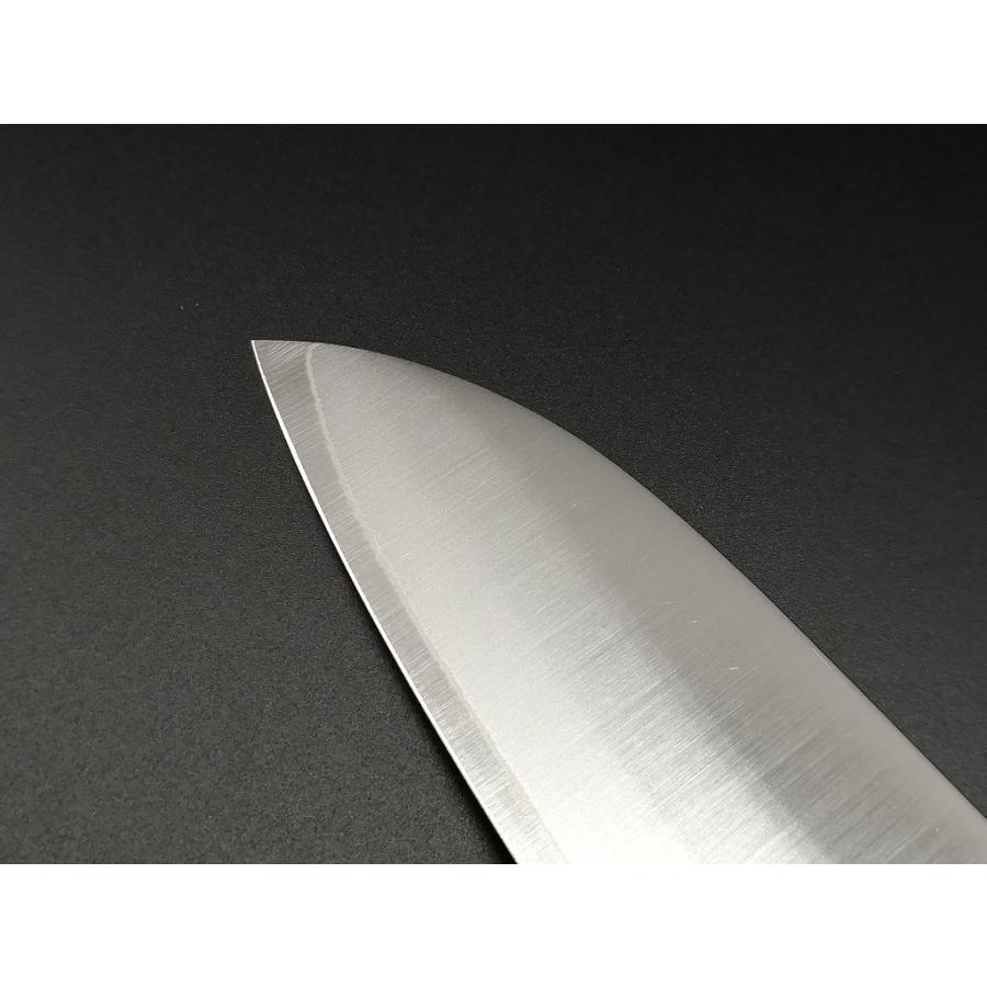 三徳 三省堂作 モリブデン 口金付 黒合板 165mm hamono-sanshodo 03
