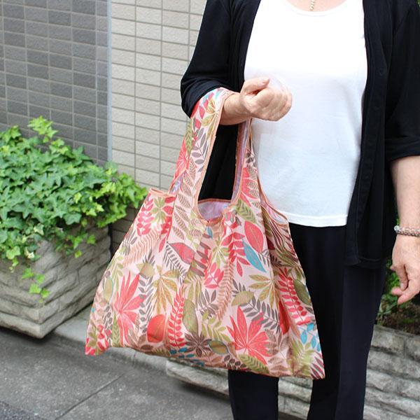 エコバッグ 10柄 ペットボトル6本 トイレットペーパー12ロール  買い物袋 バッグ レジかご  ショッピング A4 ギフト ショッピングバッグ 折りたたみ 送料無料 hana-ichirin 06