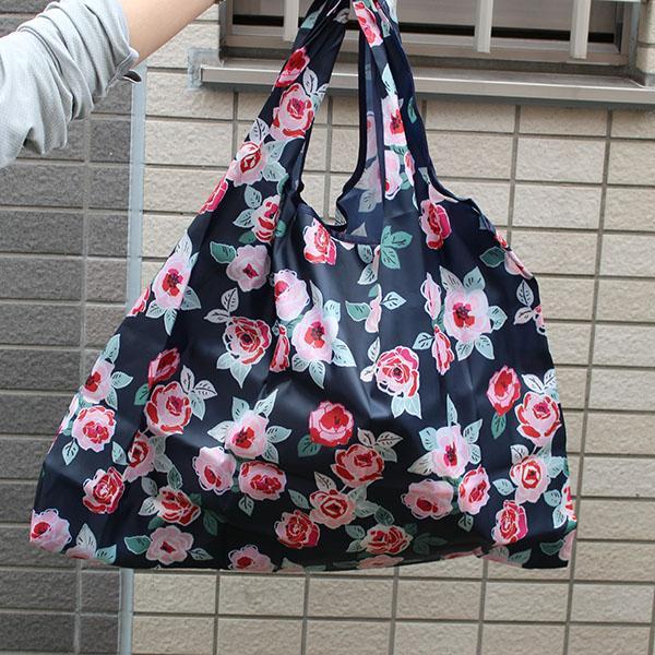 エコバッグ 10柄 ペットボトル6本 トイレットペーパー12ロール  買い物袋 バッグ レジかご  ショッピング A4 ギフト ショッピングバッグ 折りたたみ 送料無料 hana-ichirin 08