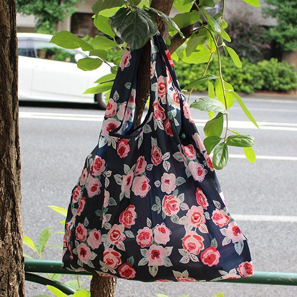 エコバッグ 10柄 ペットボトル6本 トイレットペーパー12ロール  買い物袋 バッグ レジかご  ショッピング A4 ギフト ショッピングバッグ 折りたたみ 送料無料 hana-ichirin 09