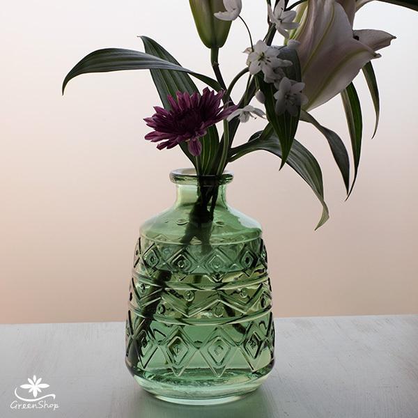 フラワーベース 花瓶 ガラス エメル・ボトルベース|hana-kazaru|02