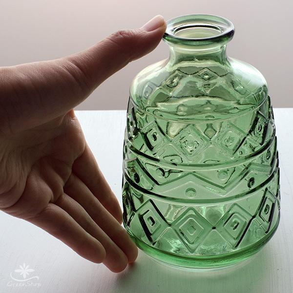 フラワーベース 花瓶 ガラス エメル・ボトルベース|hana-kazaru|08
