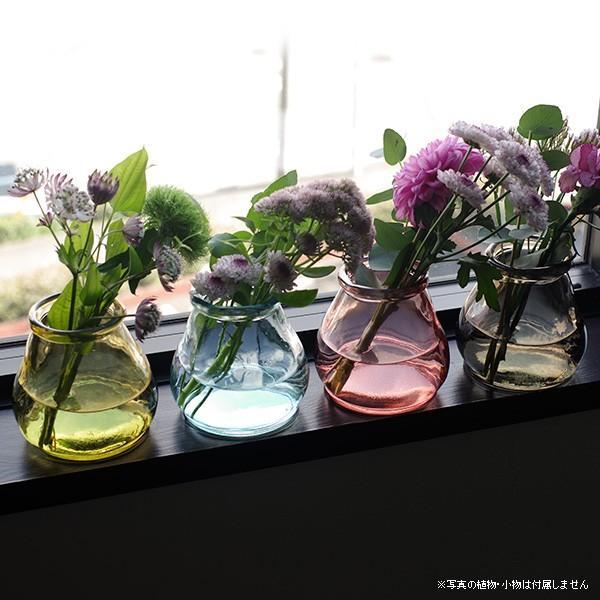 フラワーベース 新色追加して再販 花瓶 ガラス バレンシア ミニフラワーベース リサイクルガラス 再再販 CERO