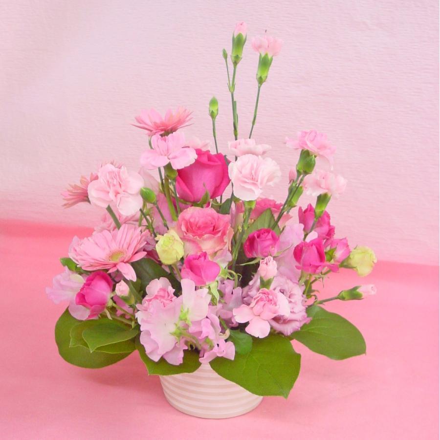 ピンク系アレンジ  お花屋さんにおまかせ フラワーギフト|hana-mizuki|04