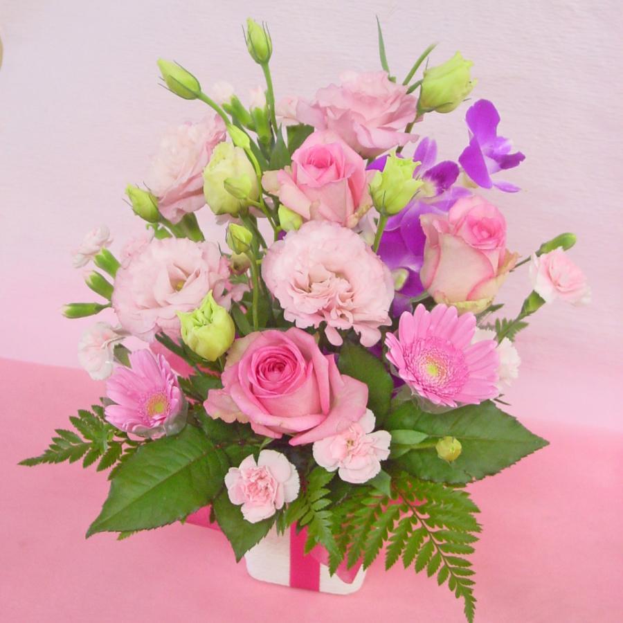 ピンク系アレンジ  お花屋さんにおまかせ フラワーギフト|hana-mizuki|07
