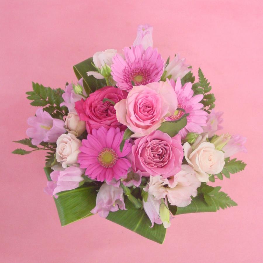 ピンク系アレンジ  お花屋さんにおまかせ フラワーギフト|hana-mizuki|08