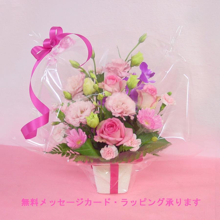 ピンク系アレンジ  お花屋さんにおまかせ フラワーギフト|hana-mizuki|09