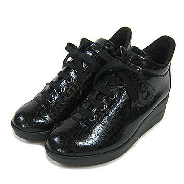ルコライン靴(アージレ) ウォーキングシューズRUCO LINE靴ベビークロコ NO.112bk ファスナー付き|hana-music