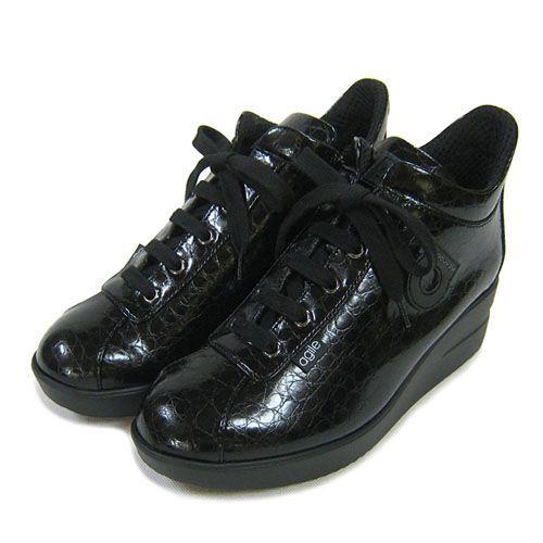 ルコライン靴(アージレ) ウォーキングシューズRUCO LINE靴ベビークロコ NO.112bk ファスナー付き|hana-music|02