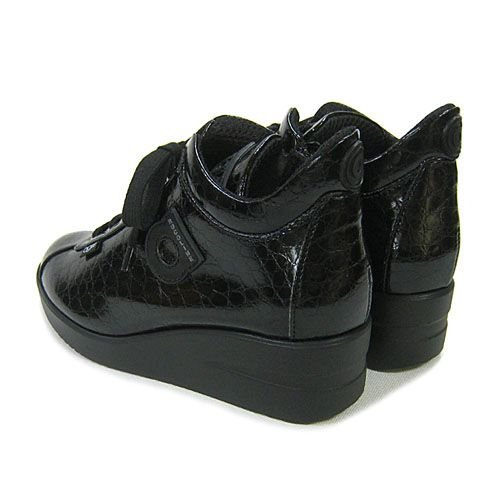 ルコライン靴(アージレ) ウォーキングシューズRUCO LINE靴ベビークロコ NO.112bk ファスナー付き|hana-music|03