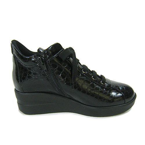 ルコライン靴(アージレ) ウォーキングシューズRUCO LINE靴ベビークロコ NO.112bk ファスナー付き|hana-music|04