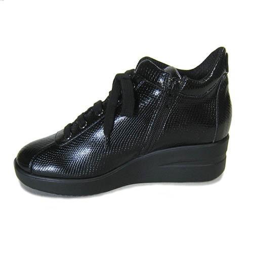 ルコライン靴(アージレ) 2020春夏 新作 定番商品 MANTA スニーカー RUCO LINE靴 NO.114BK(ブラック) ファスナー付き|hana-music|03
