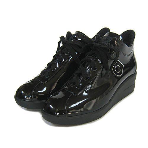 ルコライン靴(アージレ) 2020春夏 新作 限定品 エナメル スニーカー RUCO LINE靴 NO.128BK(ブラック) ファスナー付き|hana-music|02