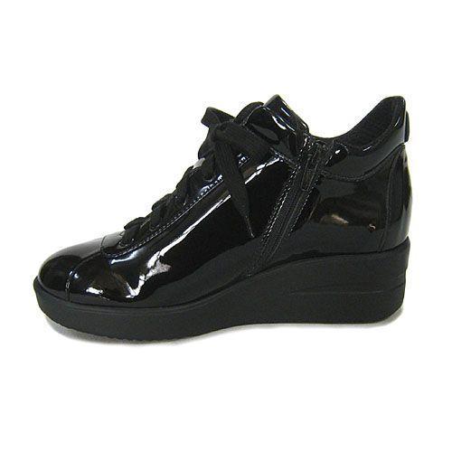 ルコライン靴(アージレ) 2020春夏 新作 限定品 エナメル スニーカー RUCO LINE靴 NO.128BK(ブラック) ファスナー付き|hana-music|03
