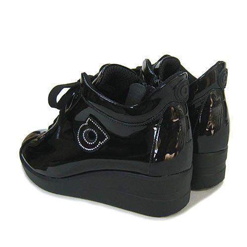 ルコライン靴(アージレ) 2020春夏 新作 限定品 エナメル スニーカー RUCO LINE靴 NO.128BK(ブラック) ファスナー付き|hana-music|04