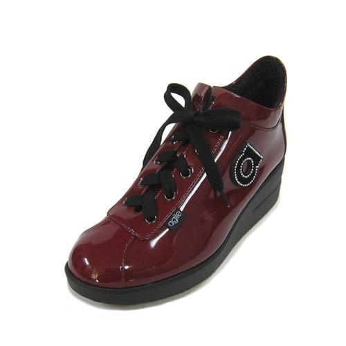 ルコライン靴(アージレ) 2020春夏 新作 限定品 エナメル スニーカー RUCO LINE靴 NO.128WI(ワイン) ファスナー付き hana-music 02