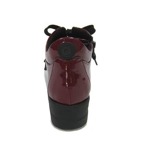 ルコライン靴(アージレ) 2020春夏 新作 限定品 エナメル スニーカー RUCO LINE靴 NO.128WI(ワイン) ファスナー付き hana-music 03