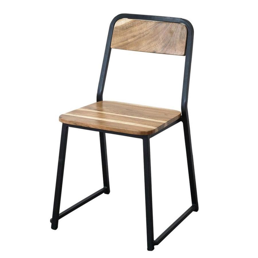 直送 SPICE フレームチェア アイアン&ウッド アイアン&ウッド KRFG7020 ※代引 返品不可 2個 家具 収納 椅子 スツール